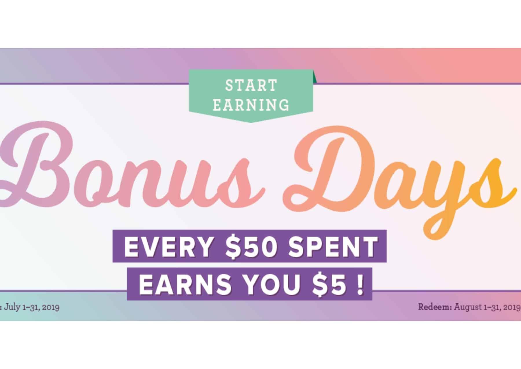 Earn Credit With Bonus Days