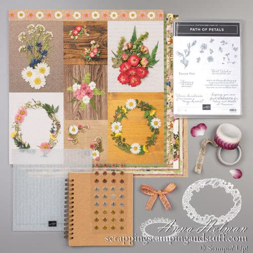 Stampin Up Pressed Petals Suite and Online Card Class