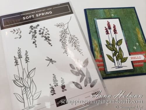 Pretty card idea made with the Stampin Up Soft Sayings stamp set - earn this set free with qualifying orders, OR win it this week during Giveaway Week!