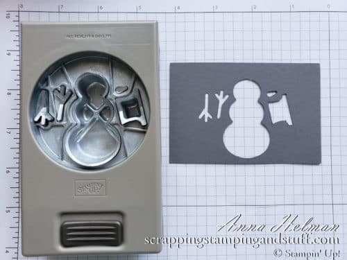 Quick tip for how to use the Stampin Up Snowman Builder Punch! Makes it SO quick and easy! Coordinates with Snowman Season stamp set