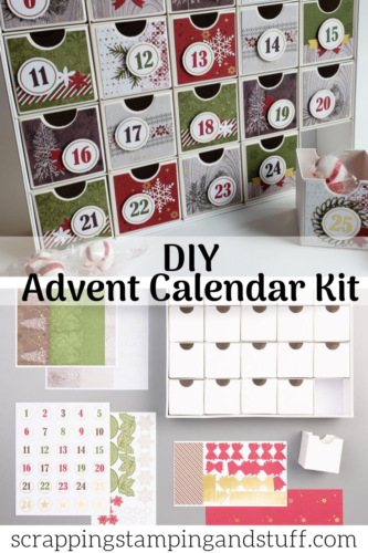 This DIY advent calendar kit is the best!! It's so easy to put together and so cute! Stampin Up Christmas Countdown Project Kit