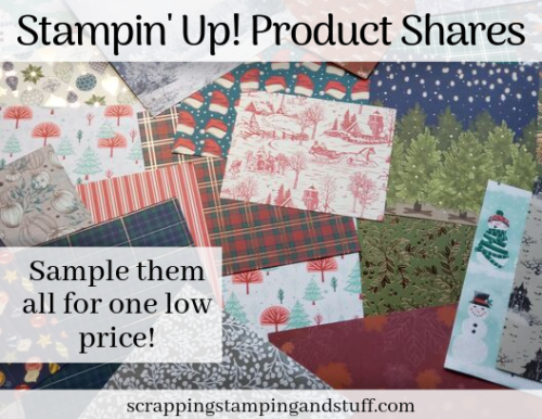 Stampin Up Product Shares! Paper Share 2019 Holiday Catalog - Beautiful Holiday Paper Assortment For One Low Price!