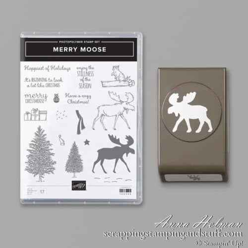 Stampin Up Merry Moose Stamp Set and Punch Bundle