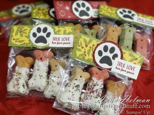 Cute Dipped DIY Dog Treats Stampin' Up!
