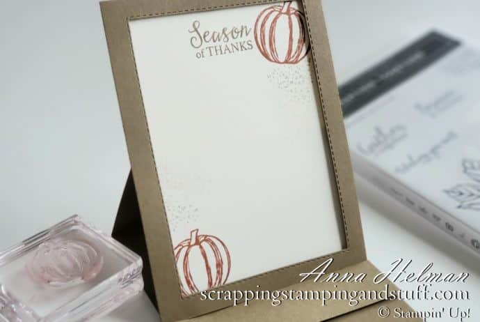 Family gratitude activity - write down things you're thankful for using these DIY paper frames made with the Stampin Up Gather Together stamp set