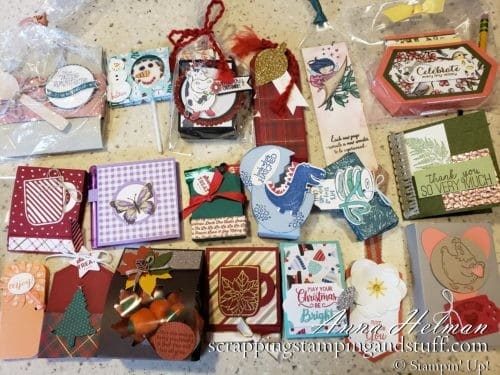 Stampin Up OnStage 3D Swaps, Handmade Treat Holders Ideas
