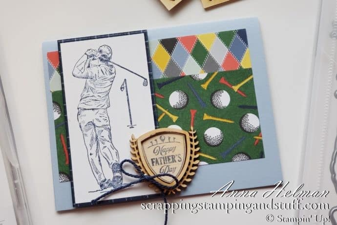 2020 Mini Catalog Sneak Peek! Nice men's golf card idea using the Stampin Up Clubhouse stamp set and Country Club product suite.