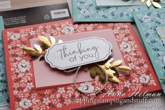 Stampin Up Saleabration 2020 Reward Item Kerchief Card Kit Free with $50 Order