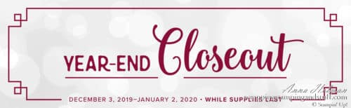 Stampin Up Year End Closeout Sale on Stamps and More