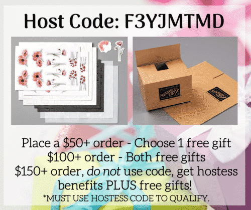 Stampin Up Hostess Code - Free Gift With Order and Customer Loyalty Program