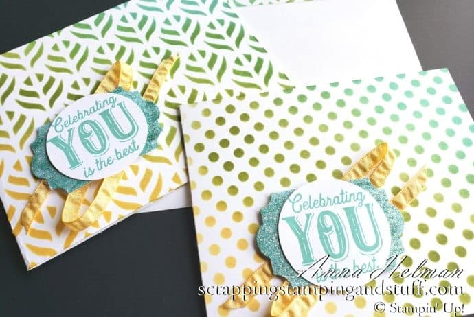 Sponged Masking Technique For Cardmaking