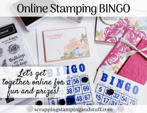 Online Stamp BINGO! Join in for stamping, fun and prizes!