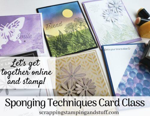 Sponging Techniques Virtual Card Class