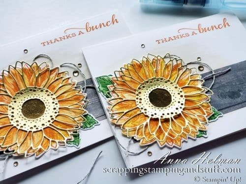 Stampin' Up! 2020-2021 Annual Catalog Sneak Peek! Watercolor Card Tutorial And The Stampin' Up! Celebrate Sunflowers Bundle