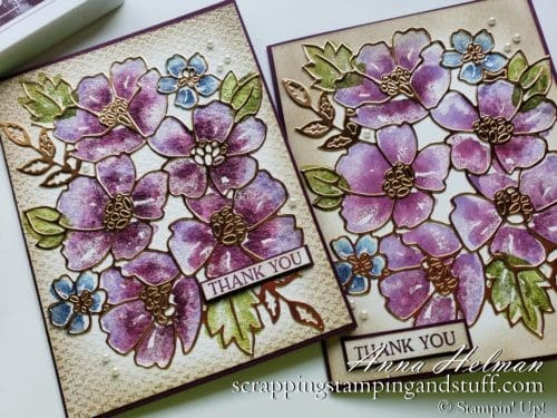 Stampin' Up 2020-2021 Annual Catalog Sneak Peek! Blossoms In Blooms Stamp Set And A Spritz Stamping Technique