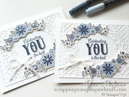 Stampin' Up! Birthday Jubilee Lace Card - Perfect For A Birthday Card Or Wedding Card
