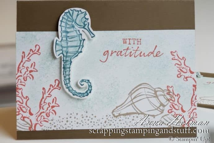 Under The Sea Card Using The Stampin Up Seaside Notions Stamp Set