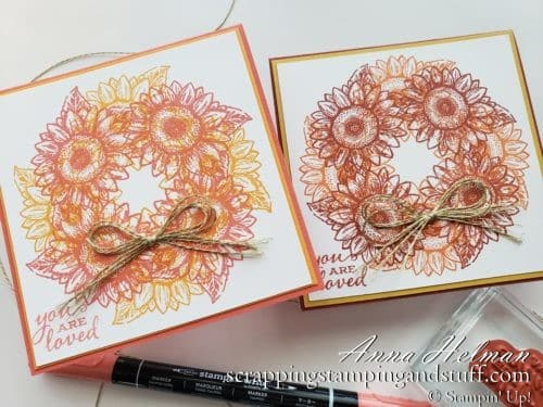 Circle Stamping Stamparatus Technique Tutorial - Create Wreaths, Circles, and More - Stampin Up Celebrate Sunflowers