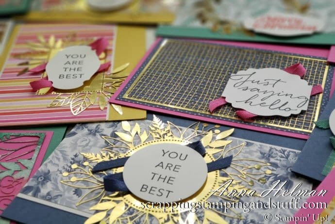 Create Cards In Minutes Using The Flowers For Every Season And Forever Gold Designer Papers