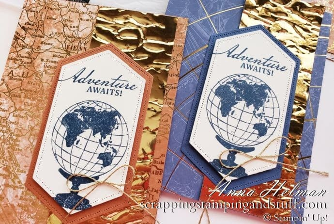 Introducing the Stampin Up World of Good Product Suite - Making 2 Gorgeous Masculine Cards