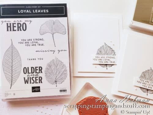 A quick and easy leaf card idea using the Stampin Up Loyal Leaves stamp set. A 2 minute card idea!