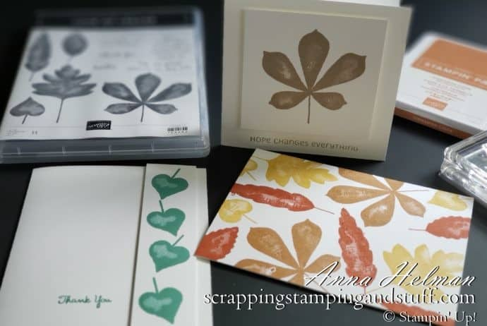 3 Simple Stamping Card Designs Using The Stampin Up Love Of Leaves Stamp Set