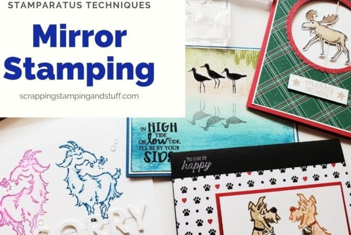 Double The Use of Stamps In Your Collection With The Mirror Stamping Technique. How To Reverse Stamp An Image With The Stamparatus