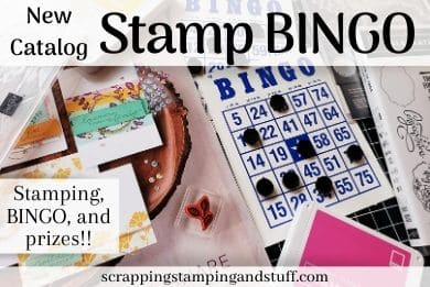Upcoming Online Card Classes - New Catalog Stamp BINGO