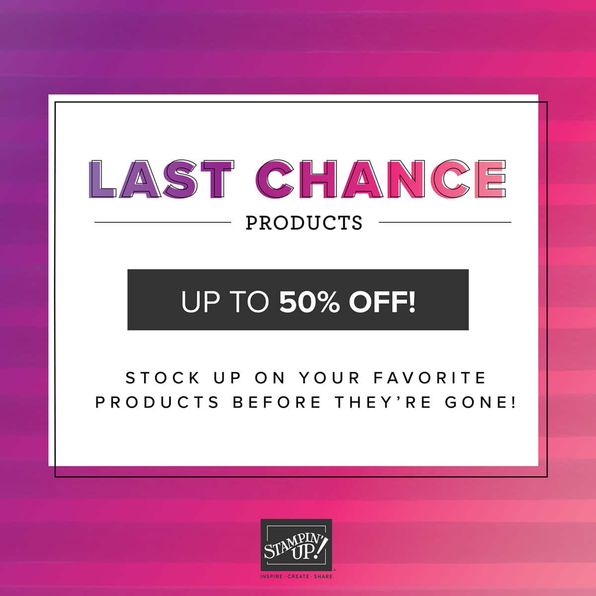 Last Chance Products On Sale
